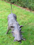 Close-up of a warthog sculpture by Rosie Sturgis