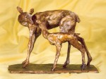 Doe and Fawn by Rosie Sturgis